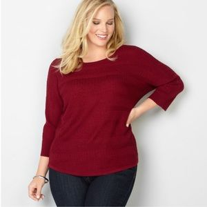 Red Avenue Sweater - Size 18/20